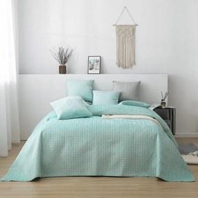 Luxusný prehoz na posteľ MOXIE mätový 160 x 220