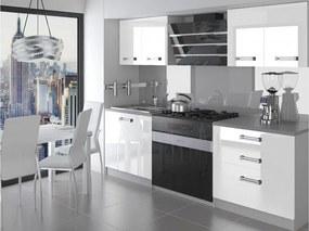 Malá kuchyňa Tera 120 cm biela lesklá