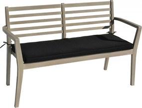 Záhradné lavica s poduškou CHESTERFIELD (sivá patina)