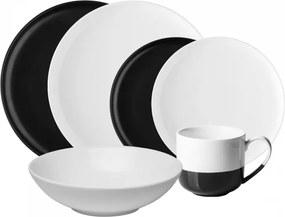 Lunasol - Porcelánový set čierny / biely 8 ks - Flow (491075)