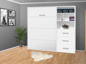 Nabytekmorava Sklápacia posteľ VS 2054 P - 200x120 cm nosnost postele: štandardná nosnosť, farba lamina: biela 113