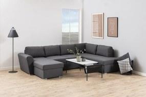 Dizajnová sedacia súprava Nanala 297 cm pravá, šedá