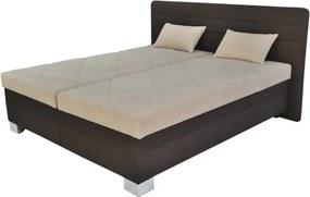 Sconto Polohovacia posteľ GLORIA hnedá/béžová, 180x200 cm