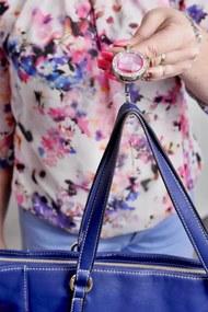 Slevnuj Háčik na kabelku, ružový