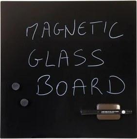 Bi-Office Sklenená magnetická tabuľa, čierna, 480 x 480 mm