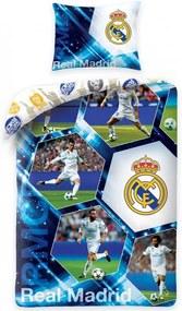Halantex · Bavlnené posteľné obliečky / posteľná bielizeň Real Madrid - RMCF - 70 x 90 + 140 X 200 cm | Oficiálny produkt Realmadrid