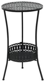 vidaXL Bistro stolík vo vintage štýle okrúhly kovový 40x70 cm čierny