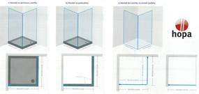 HOPA - sintra bez vaničky, chrom, sklo frost, 90 × výška 195 cm, pravé provedení (BCMADE290CFP)