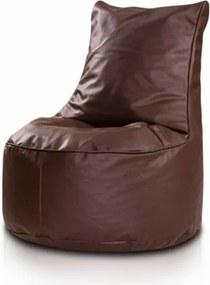 Sedací vak ECOPUF - SEAT S - ekokoža Biela