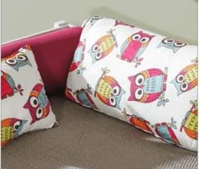 DL Detská posteľ s prístelkou Bela 90x200 cm Farba: Borovica, Motív: Sova