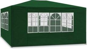 Jurhan & Co.KG Germany Party stan Maui 3x4 m, bočné steny + oblúkové okná, zelená farba