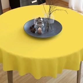 Goldea bavlnený obrus žltý - guľatý Ø 70 cm