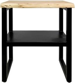 Príručný stolík s poličkou z akáciového dreva HSM collection SoHo