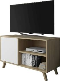 TEMPO KONDELA Land 100 tv stolík dub puccini / biela