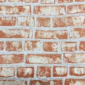 Vliesové tapety, tehla, Easy Wall 1347420, P+S International, rozmer 10,05 m x 0,53 m