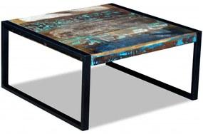 Konferenčný stolík z recyklovaného dreva, 80x80x40 cm