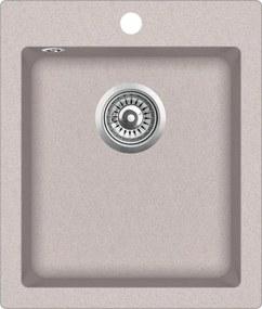 Granitový kuchynský drez - Aquastone QUADRA 20 piesková