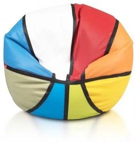 Sedací vak ECOPUF - BASKETBALL farebný