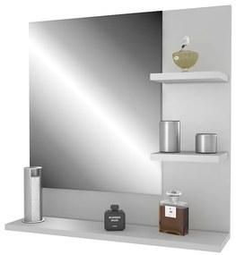 Biele zrkadlo s policou Ariad - pravé