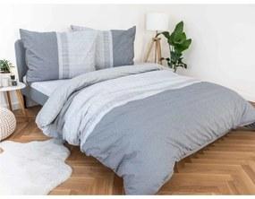 BedTex Francúzske bavlnené obliečky Renforcé – Spencer sivé 200x220/70x90cm