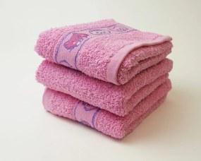 Dobrý Textil Detský uterák s motívom 30x50 - Růžová | 30 x 50 cm