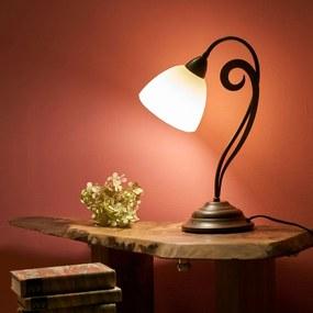 Stolná lampa Luca vo vidieckom vzhľade