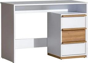 PC stôl KNOX E14 orech select / biela Tempo Kondela