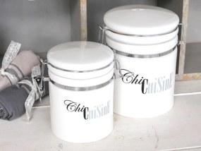 Chic Antique Porcelánová dóza s vrchnákom Chic Cuisine 1600 ml - väčšia