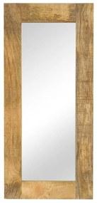 vidaXL Zrkadlo masívne mangovníkové drevo 50x110 cm