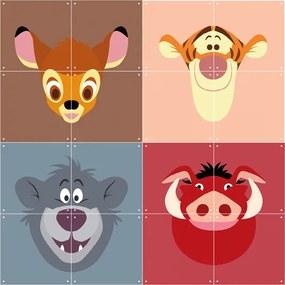Skladaný obraz – Disney All Stars: Bambi× Tigger× Baloo× Pumba