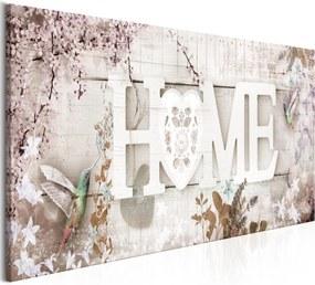 Obraz - Home and Hummingbirds (1 Part) Beige Narrow 150x50