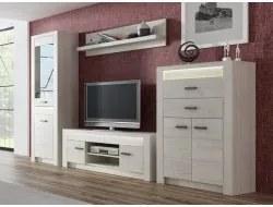 INDIANAPOLIS, obývacia stena jaseň biely