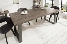 Jedálenský stôl Iron Craft 200cm šedé Mango