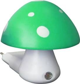 ACA DECOR Detské svietidlo do zásuvky Huba, zelená farba