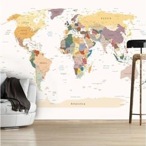 Veľkoformátová tapeta Artgeist World Map, 300 × 210 cm