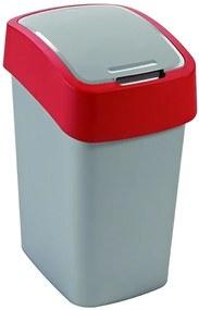 CURVER FLIPBIN 10l Odpadkový kôš 35 x 23,5 x 18,9 cm strieborná/červená 02170-547