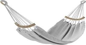 AmeliaHome Hojdacie závesné ležadlo Lazara sivá, 240 x 150 cm