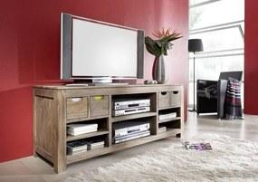 Bighome - GREY WOOD TV stolík 148x62 cm, palisander