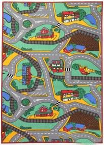 Associated Weavers koberce Dětský kusový koberec silnice Play Time - 100x165 cm