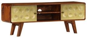 vidaXL TV stolík z masívneho sheeshamového dreva 120x30x45 cm