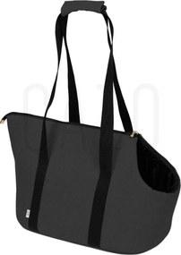 Sivá prepravná kabelka pre psa 30×40×24 cm