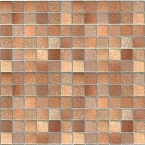 Samolepiace fólie kachličky Toscana hnedé, metráž, šírka 45cm, návin 15m, GEKKOFIX 11703, samolepiac