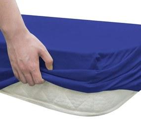 """vidaXL Prestieradlo na posteľ, 2 ks, bavlna """"jersey"""", 180x200-200x220 cm, modré"""