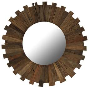 vidaXL Nástenné zrkadlo, recyklovaný masív 70 cm