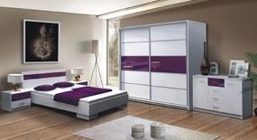 >> DUBLIN spálňa, biela/fialová