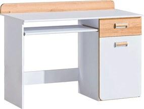 PC stôl, biela/dub nash, EGO L10