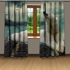 Závesy Zimný medveď (Rozmer: 140x250, Materiál: Interlock)