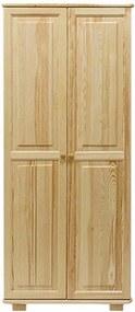 AMI nábytok skříň 2Dč2 šířka 80 borovice věšák