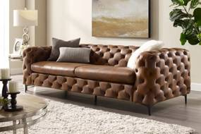 Dizajnová sedačka Rococo 240 cm hnedá