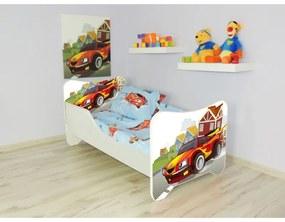 Detská posteľ s obrázkom 160x80 - Auto